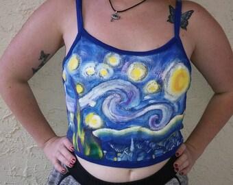 Van Gogh Starry Night Crop Top