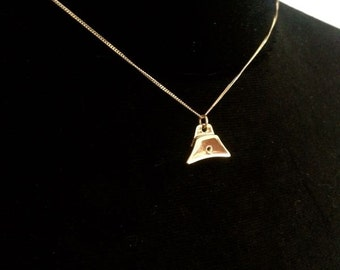 9ct Gold Whistle Charm necklace