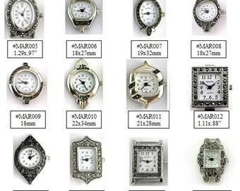 Watch Face Narmi and Geneva Marcasite Watch Face Beading Watch Face Spring Bar Watch Face - 1 Piece