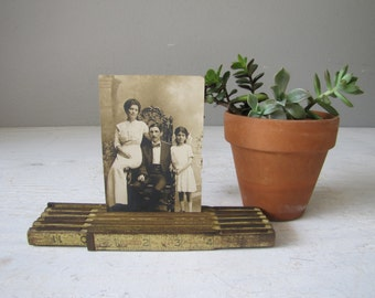 Vintage Folding ruler w/ Photo, Industrial Display