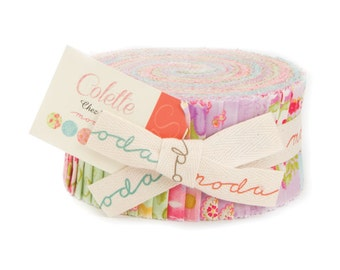 Colette by Chez Moi for Moda Jelly Roll Precut - 33050JR - Precut quilting and sewing fabric, free postage in Australia