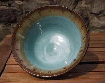 Turquoise Blue Serving Bowl Centerpiece