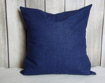 Blue Pillow. Pillow Cover. Accent Pillow. Pillow Covers, Cushion, Decorative Pillow, Vintage Indigo Blue contemporary modern decor