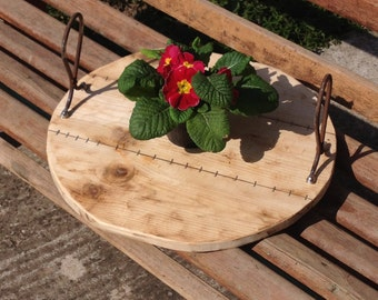 wooden and iron tray