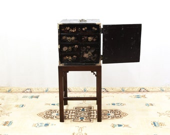 Chinese Fitted Box on Custom Stand with Six Embossed Drawers