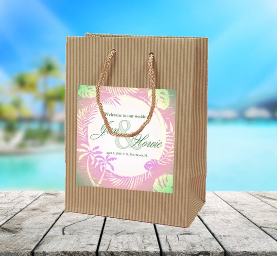 Beach Wedding Gift Bags For Guests : ... of town guests hotel hospitality gift bag, wedding favor or goody bag