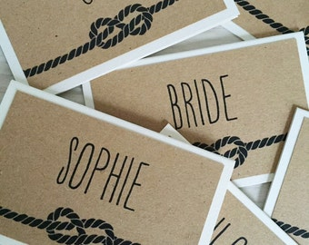 Wedding place card - infinity love knot