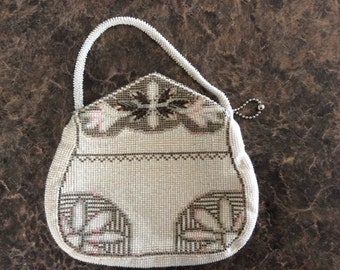 1920's Czech beaded vintage hand bag