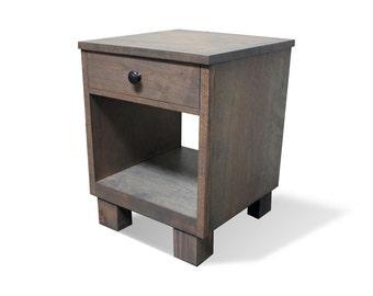 Rustic Nightstand | Reclaimed Wood Style Nightstand | Wood Nightstand | Nightstand Pair | Rustic Bedroom Furniture