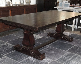 Trestle Dining Table Etsy - Trestle dining room table