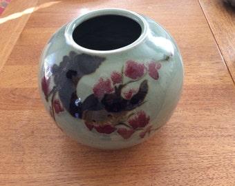Japanese Bowl -Cherry Blossoms -vintage ceramic