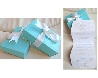 Tiffany Box Invitations
