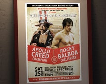 Rocky II    Rocky vs Apollo Fight Poster