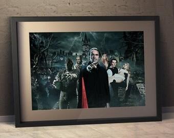 Hammer Horror  - Original Art Poster