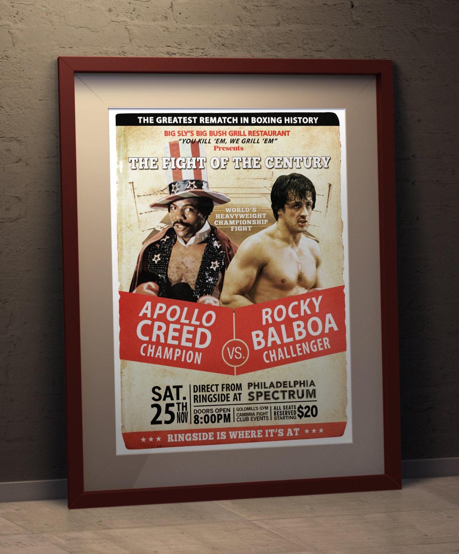 Rocky II Rocky vs Apollo Fight Poster