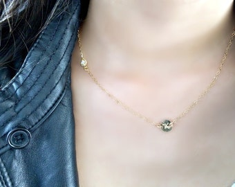 cubic zirconia necklace with initial personalized cz necklace monogram necklace monogram jewelry 14k gold filled hand stamped letter initial