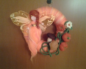 Four season Fairy, Needle Felted Wool Doll Angel Faeries, Soft Sculpture, Waldorf Inspired