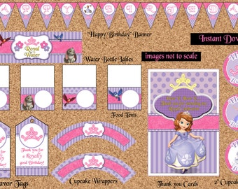 INSTANT DOWNLOAD - Sophia the First Party Package by (Atom Design)