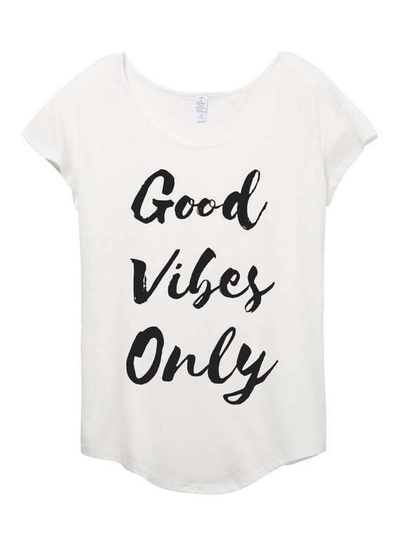 Womens Good Vibes Only shirt - Bohemian - Womens top - Black and White - chic- stylish - outdoors -fashion - small, medium, large, xl