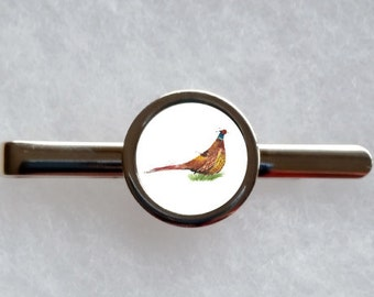 Pheasant Tie Clip - can be fully personalised