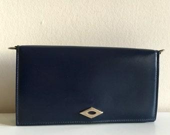 Marine blue pouch / / vintage / / 80 s