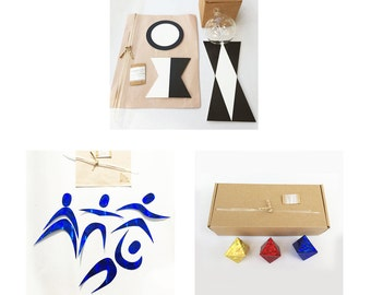 Montessori Visual Mobiles DIY set of three