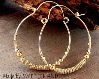 Creole Earrings Wire Wrapped Brass Earring Hoops Statement Earrings Anthropologie Earrings Anthropology Earrings Ethnic Earrings Bohemian