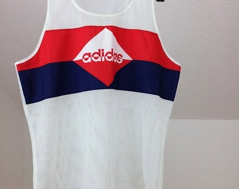 Adidas tank top tshirt sz.38 made in west germany