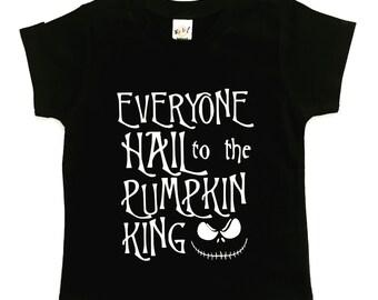 Pumpkin King Halloween tee for infants, toddlers, children