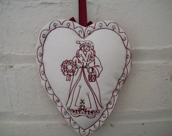 Embroidered Christmas decoration vintage style