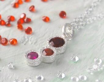 Ruby Necklace, Ruby Pendant, Garnet Necklace, Gemstone Necklace, Silver Ruby Necklace, Red Gemstone Pendant, Birthstone Necklace, Ruby
