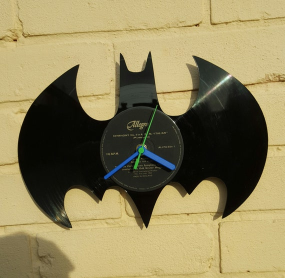 Batman Vinyl Record Clock Wall clock by CustomiseIt on Etsy