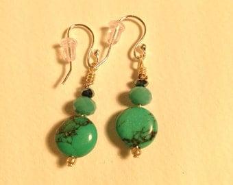 drop turquoise earrings