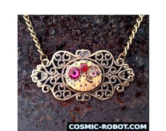 Steampunk Pendant Necklace, steampunk jewelry. handmade jewellery, steampunk jewellery, steam punk jewelry, geek wedding.