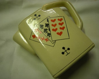 vintage pitcher-water pitcher-west germany-poker night-man cave-retro-