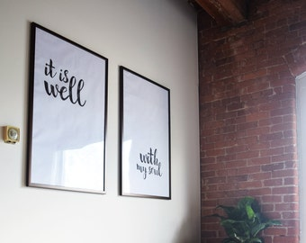 It is well with my soul poster - PDF & JPG files