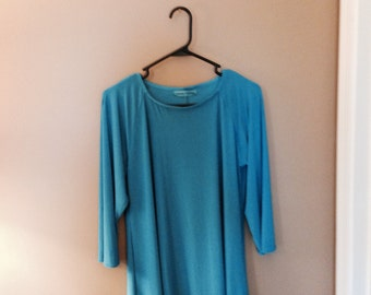 Aqua Blue Knit Top