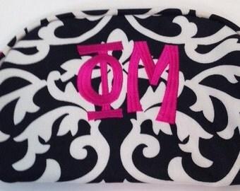 Phi Mu Fabric Makeup Bag