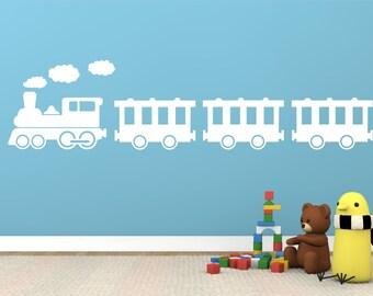 Steam Train wall art decal decor sticker