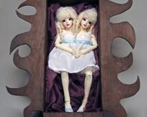 OOAK BJD Clay Art Doll- Conjoined Twins