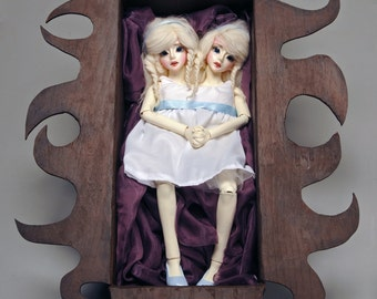 OOAK BJD Clay Art Doll- Conjoined Twins