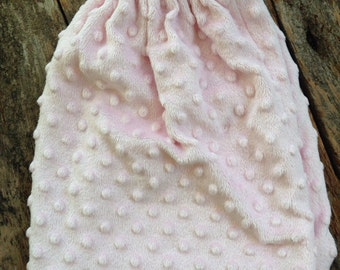 Light pink minky dot skirt 3 available