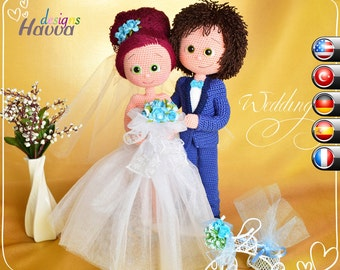 PATTERN - Bride and Groom (crochet, amigurumi)
