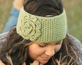 Crochet Ear Warmer - Custom Ear Warmer  - Custom Headband - Crochet Headband - Floral Ear Warmer - Flower Ear Warmer - Valentine Gift