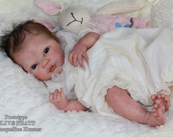 Custom Made Reborn Baby From NEW RELEASE Olive Kit  **Painted or Rooted Hair**