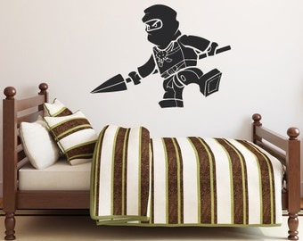 Ninjago Jay Spear Lego Decal - Vinyl Wall Decal Sticker
