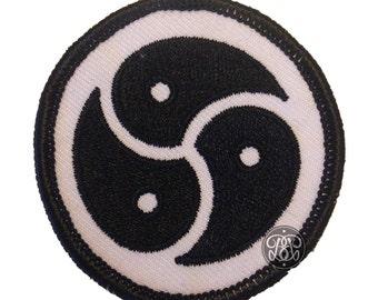 BDSM Symbol Woven Patch - Black or Pink