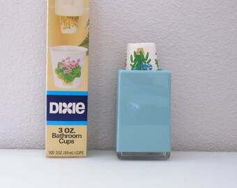 cup dispenser  etsy, Bathroom decor