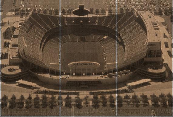 Man Cave Decor Store Kansas City : Arrowhead stadium home of the kansas city chiefs wall art