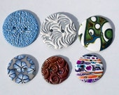 Mixed lot of polymer clay buttons 2 sizes of buttons buttons for knitting buttons for crochet buttons handmade buttons